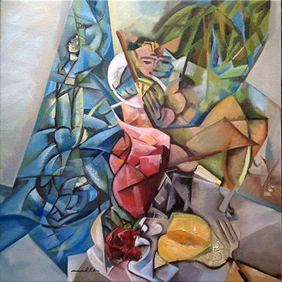 Poolside Kiss- by Louis Miller