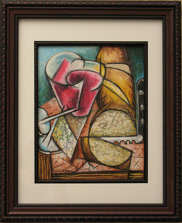 Still Life With Wine- by Louis Miller
